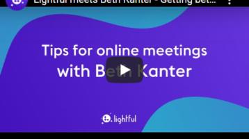Tips for online meetings